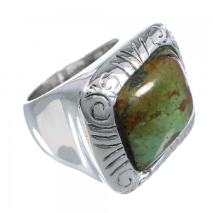 Silver Turquoise Southwest Jewelry Ring Size 5-1/2 YS63237