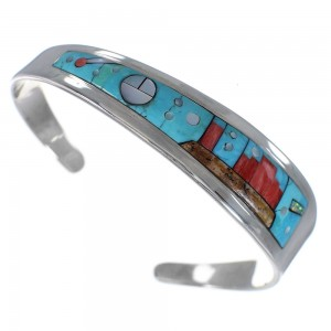 Southwest Mesa Design Sterling Silver Multicolor Bracelet OS60045