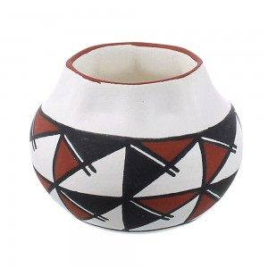 Acoma Native American Pot Hand Crafted By Artist Zelda Garcia YX97327