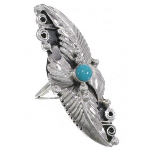 Turquoise Sterling Silver Southwestern Ring Size 8-1/2 VS60945