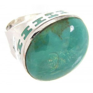 Sterling Silver Turquoise Ring Size 6-1/4 OS59920