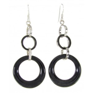 Southwest Onyx Hook Earrings Jewelry ZW61691