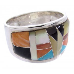 Multicolor Whiterock Sunset Jewelry Ring Size 8-1/4 YS68967
