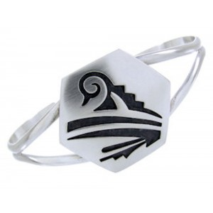 George Phillips Hopi Native American Design Cuff Bracelet BW64731