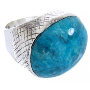 Southwest Silver Turquoise Ring Jewelry Size 5-1/2 MW66769