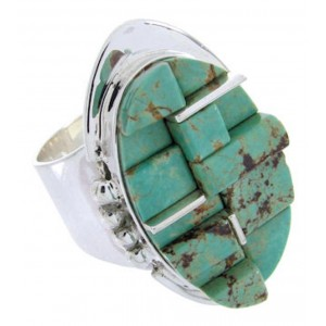 Turquoise Inlay Ring Size 6-3/4 YS68838