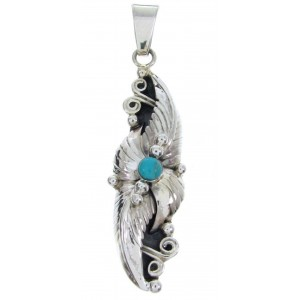 Southwestern Turquoise Jewelry Silver Pendant BW69966