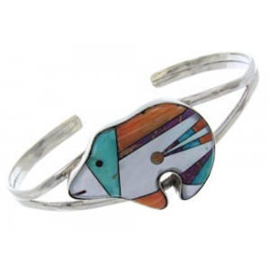 Multicolor Bear Cuff  Silver Jewelry Bracelet BW70008