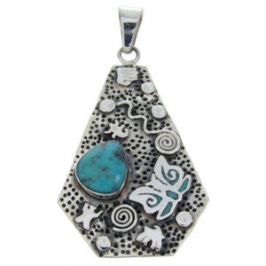 Southwest Turquoise Hand Butterfly Jewelry Pendant YS70198