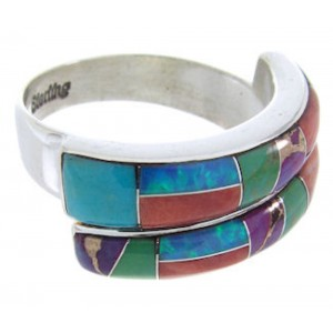 Sunrise Whiterock Multicolor Inlay Ring Size 6-1/2 YS70318