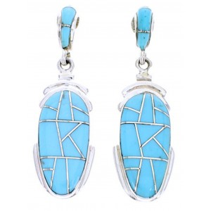 Turquoise Jewelry Silver Southwest Post Dangle Earrings YS70553
