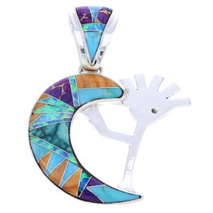 WhiteRock Sunrise Multicolor Kokopelli Pendant YS70886