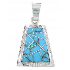 Silver Jewelry Turquoise And Blue Opal Slide Pendant YS70936