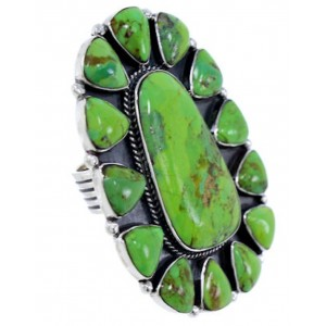 Silver Mojave Turquoise Large Statement Ring Size 8-1/4 BW72130