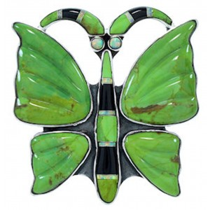Multicolor Southwest Butterfly Large Statement Ring Size 6-1/2 YS72632