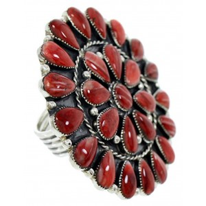 Jewelry Red Oyster Shell Large Statement Ring Size 9-3/4 BW72965