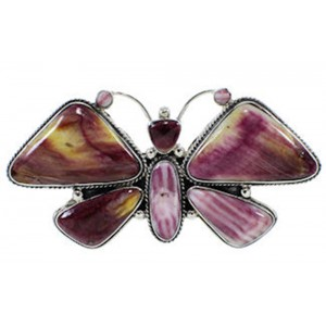 Purple Oyster Shell Large Statement Butterfly Ring Size 7 PS72850