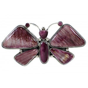 Large Statement Purple Oyster Shell Butterfly Ring Size 10 PS72871