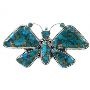 Butterfly Large Statement Southwest Turquoise Ring Size 9 PS72966