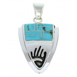 Hand Sterling Silver Turquoise Jewelry Pendant YS73201