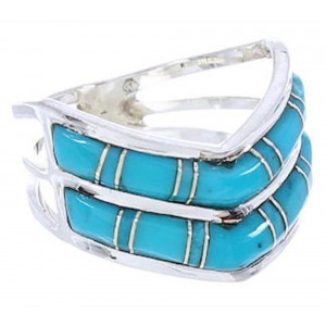 Sterling Silver Southwest Turquoise Ring Size 6-1/4 GS73794
