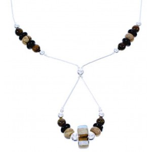 Multicolor Liquid Silver Bead Necklace GS74866