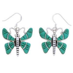 Southwest Jewelry Turquoise Butterfly Hook Dangle Earrings BW74948