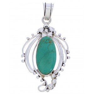 Southwest Pendant Turquoise And Silver Jewelry BW74980