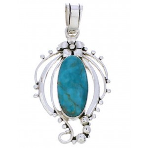 Turquoise Slide Pendant Sterling Silver Jewelry BW74991