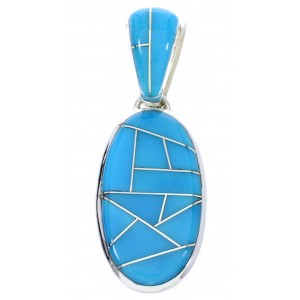 Sterling Silver Jewelry Turquoise Pendant GS75690