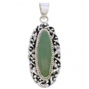 Sterling Silver And Turquoise Southwest Jewelry Pendant EX29032