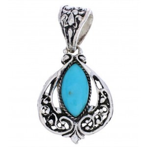Sterling Silver Southwest Turquoise Pendant EX29056