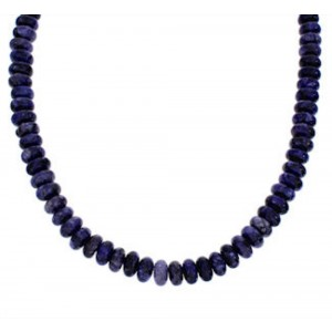 Purple Agate Sterling Silver Bead Necklace GS76922