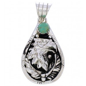 Turquoise and Silver Eagle Pendant AX23575