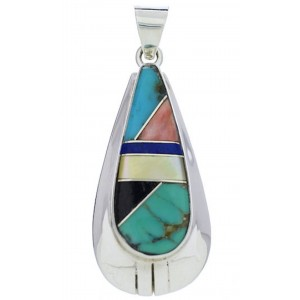 Multicolor And Silver Jewelry Southwestern Pendant PX30333