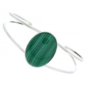 Navajo Malachite And Sterling Silver Jewelry Cuff Bracelet BW77039