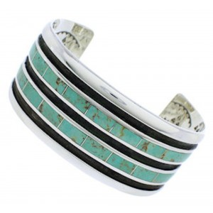 Sterling Silver Turquoise Southwestern Jewelry Cuff Bracelet EX27558