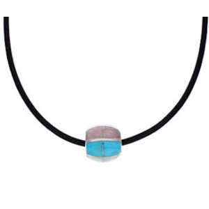 Multicolor Inlay Bead Pendant And Necklace Jewelry EX24841