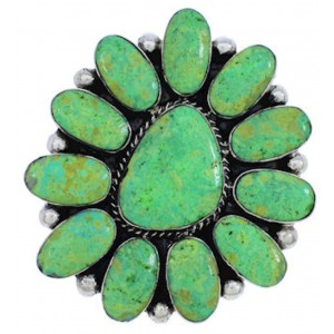 Turquoise Sterling Silver Large Statement Ring Size 6-3/4 YX35514