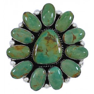Large Statement Silver Jewelry Turquoise Ring Size 9-3/4 YX35786