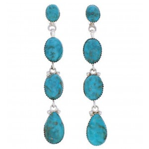 Southwest Sterling Silver And Turquoise Earrings JX23011