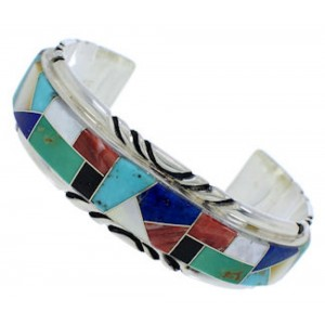 Sterling Silver Jewelry Multicolor Southwest Cuff Bracelet FX27555