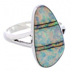 Opal Southwest Authentic Sterling Silver Ring Size 8 WX41645