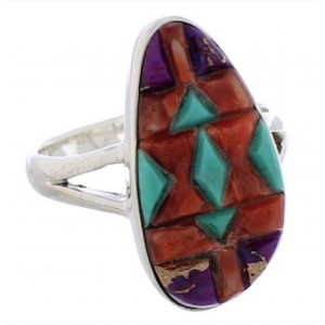 Multicolor Jewelry Authentic Sterling Silver Ring Size 6-1/2 WX41842