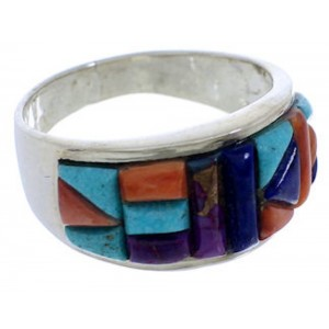 Multicolor Authentic Sterling Silver Ring Size 10-1/2 VX36174