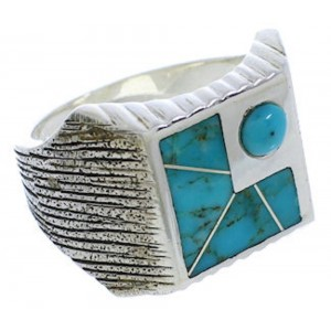 Sterling Silver Turquoise Southwest Ring Size 13 UX33174