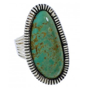 Sterling Silver Turquoise Jewelry Ring Size 6-3/4 PX41430