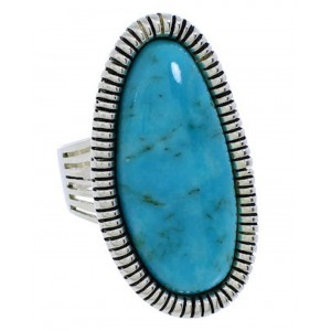 Southwest Jewelry Turquoise Sterling Silver Ring Size 5-1/4 PX41464