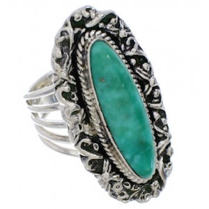 Authentic Sterling Silver And Turquoise Ring Size 5-1/2 UX34515