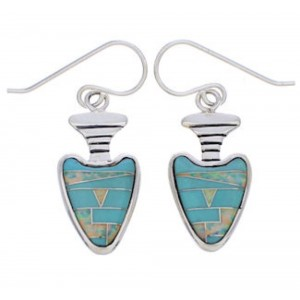 Southwest Opal And Turquoise Arrowhead Earrings EX32689